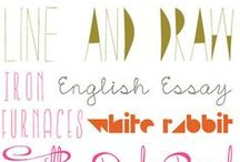 Fonts and Work Stuff / by Kyla Rogala
