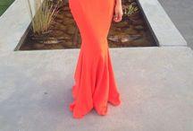 Orange evening Dress, @sheike  / @sheike, orange formal dress, stunning, evening