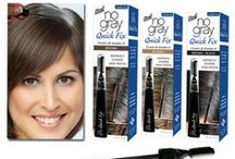 No Gray Quick Fix Canada / No Gray Quick Fix is perfect for hiding gray roots and doing quick touch-ups between colouring.  The applicator brush and combs are perfect for precise control. Hides gray hair until your next shampoo. Find in stores here: www.farleyco.ca/No-Gray/Products.html