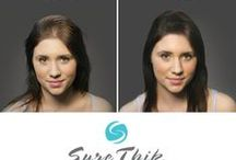 Sure Thik Canada / Sure Thik Natural Hair Thickening Fibers. Simply shake on to attach to the scalp and the surrounding hairs to cover thinning hair and wide parts. Sure Thik is made with microscopic keratin fibers that are lightweight and have natural static. Hair loss suffers are amazed with this easy and natural solution. The goal of Sure Thik is to create a voluminous look that is guaranteed to stay put and look natural with normal daily wear. / by Farleyco Canada