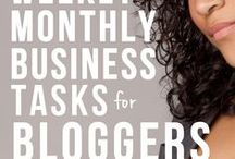 Blogging: Business Stuff- Daily to do, taxes, etc