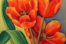 pinturas / flores e outros