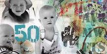 Familie Kunst Inspiratiebord / Inspiratie voor Famart Familiecollages Belevingscollages. www.famart.nl Stamboom Herinneringen Geboorte Trouwen Overlijden Persoonlijk kado met photocollage!