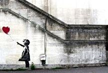 "BANKSY STREET ART / Friendly Board 4 All Banksy Art Lovers.① To Pin to this community board, please contact me at teri.lid@gmail.com with your profile link ② Please add other great pinners by going to ""edit"" on the board and send them an invite! Enjoy! / by Teri Lid"