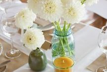 Table Settings with Beeswax / Set your table with an all-natural hand-crafted beeswax candle from apidae candles.