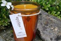 Tea - Candles / Enjoy a taste of the orient with an apidae tea candle, hand poured beeswax in a moroccan tea glass. Customers from the USA can now purchase apidae candles at www.etsy.com/de/shop/apidaecandles