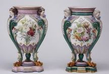 Vibrant Vases / Antique crystal, enamel and silver vases.
