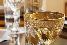 Raise Your Glass / Cheers to antique and vintage glasses, goblets and flutes!
