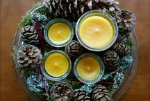 Beeswax Candles for the Holidays / Enjoy the warmth of an apidae candle this holiday season. Customers from the USA can now purchase apidae candles at www.etsy.com/de/shop/apidaecandles