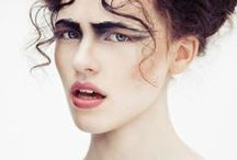 Make-up | moodboard / female portraits, woman, women, girl, girls, color, black and white, BW, photography, portrait, inspiriation, nature, idea, moodboard, fashion, editorial, makeup, hair style, face, eyes, lips