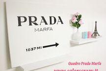 Quadri Prada Marfa / Opere d'arte realizzate a mano su tela pronte da appendere. Acquista su https://www.declea.com/it/