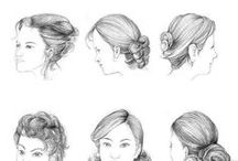 ++ Figurative Hair /  Figurative Hair How to Draw Hair  - Art Design and Inspiration for figurative painting, life drawing and painting the human hair