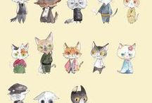 ++ Creatures & Critters / Motif Pattern Design References Creatures, Cute Animals and Critters Resources for Art Students , Inspiration for Artists , Designers, Illustrators