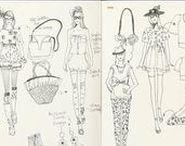 ++ Sketchbooks FASHION / Fashion Textiles - Inspiration for Fashion Designers and Surface Pattern Designers Resources for Art Students , Inspiration for Artists , Designers, Illustrators