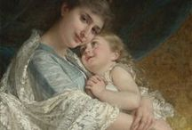 Moms & Daughters / Beautiful paintings of mothers and daughters and more...