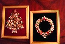 Vintage jewelry crafts / Taking pieces of broken costume jewelry and creating one of a kind artwork  / by Beth Turchi