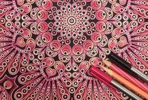 Ideas for how to color adult coloring books