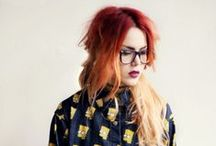 * Luanna Perez  * / grunge look / red hair / my icon / le-happy.com