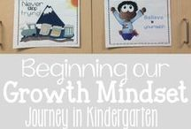 Growth Mindset / A collection of free and paid activities, videos and quotes for bulletin boards to support teachers in teaching and inspiring growth mindset. For kids and students from kindergarten, elementary students, middle school and even for adults! #growthmindset
