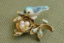 Accessories【Bird  and flower】