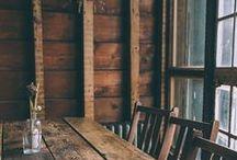 Rustic wood【素朴な木肌や色】