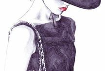 Drawings / Illustrations and fashion illustration