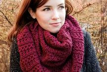 Knitted Scarfs / Some scarf inspiration for you lovely lot.