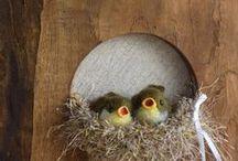 Needle felted birds2羊毛フェルトの小鳥 / 森のことりが制作した羊毛フェルトの小鳥たちPart2 ホームページより抜粋。 http://morinokotori-felt.com/