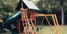 """Wooden Swing Sets / Eastern Jungle Gym has been """"Creating Childhood Memories"""" for more than 22 years, and is one of the industry leaders in the backyard swing set market. All swing sets are 100-percent cedar and can be customized for the most active kids. Check out some of our featured models!"""