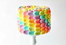 cakes || rainbow & colourful