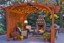 Wood & Vinyl Pergolas / Pergolas provide a unique design feature while providing a shaded area for patios, entertaining, grilling or pool areas. / by Best in Backyards