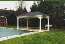 Wood & Vinyl Pavilions / Pavilions offer a shaded area perfect for poolside setting or patios.