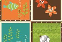Here Fishy Fishy -Henry Glass Fabrics / At Discover Fabric