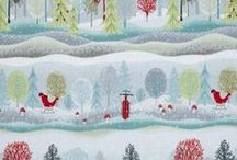 Holiday Cheer Christmas Fabric / Christmas Fabric By Jan Shade Beach