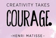 Creativity Quotes / Emotionally encouragement for creatives!