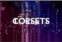 The Corsets / Identity and album design for the band The Corsets by Davis.