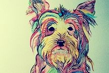 Dogs..... / Dogs, photos of dogs, drawings and paintings of dogs! / by Lesley Hill