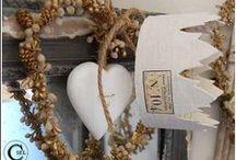 FAIT MAIN / Objets de décoration travaillés dans des matières anciennes