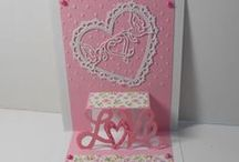 cards: pop n cuts, pop it up dies / karen burniston dies, sizzix, elizabeth craft / by Merry Erin Edwards