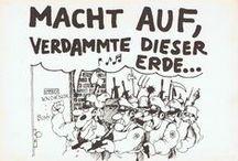 """Alternative Szene 1977-84 / Illustrations and comics from the """"alternative"""" movement in West-Germany 1977-84.  /  Illustrationen und Cartoons aus der alternativen Bewegung in West-Deutschland und West-Berlin 1977-84."""