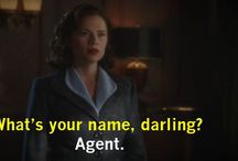 AGENT CARTER / Peggy Carter:  Look like a lady Think like a leader Shoot like a boss Agent Miss Union Jack