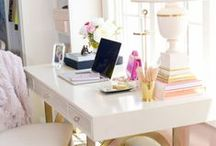Office Space Inspo / Beautiful work calls for a beautiful space, right? These swoon-worthy home office spaces will inspire and motivate you to do the work.  / by Callie Gisler