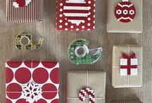 Gifts and Wrapping / Gifts, wrapping ideas, decorative wrapping, bows, ribbons, paper, Christmas, birthdays, ideas, tips, inspiration
