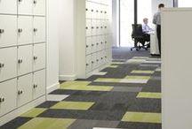 Project - Frisk, Grids and Flux | CBRE, Birmingham / Desso carpet tiles, Frisk, Grids and Flux installed in the CBRE, Birmingham offices