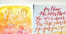 * Fonts & Hand Lettering / Fonts, lettering, writing, hand lettering, freebies, helpsheets, brush pens, calligraphy, hand writing, fountain pens, tutorials