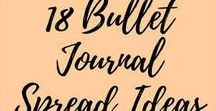 * Bujo / Bullet Journal Inspiration / Bullet journals, listers, lists, journal, Bujo, journaling, planning, bullet systems, list journals, organisation, goals journaling, bujo set up, inspiration planners, travelers notebook, page spreads