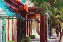 "Painting Pensacola / Living in a seaside town steeped in history supplies me with lots of colorful scenes to paint, and painting ""plein air"" is one of my favorite pastimes. It's a match made in heaven!"