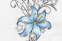 Dibujo de Flores  / blue sky / by Julliett Diamond