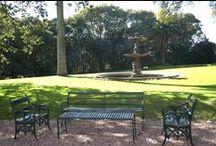 """El jardín / """"A pesar de sentirme ciudadana del mundo estaba profundamente arraigada a mis barrancas sanisidrenses"""", escribió Victoria en 1976 recordando el jardín de Villa Ocampo, sus caminatas diarias entre los senderos perfumados por las madreselvas y sus tranquilas lecturas a la sombra de los árboles."""