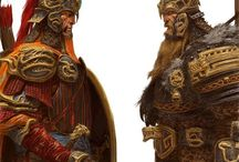 Fantasy / D&D Guildwars Blood bowl warhammer elric elfes noirs lycan uratha